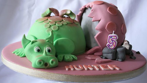 Baby Dragon Cake and Egg
