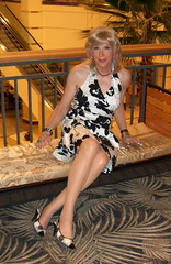 E Laura SEXY W+B HALTER Dress 70310 (lwhitets) Tags: mall saturday galleria 7310 at 7032010