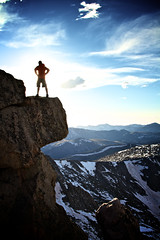 14er Portrait (Zach Dischner) Tags: summer portrait sky cliff selfportrait mountains nature sunshine silhouette canon landscape eos cool colorado 7d 14er epic mtevans canon7d