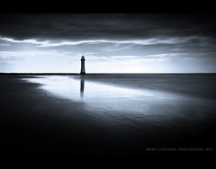 Just a Lighthouse (Lee Carus) Tags: new sea lighthouse reflection zeiss liverpool river brighton dusk sony carl alpha mersey 2470 a900