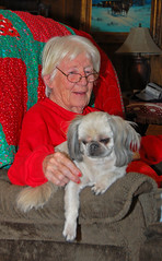 Gaynor with Muffin (wilsonti) Tags: family oklahoma farm penn muffin mckinley ok hooker gaynor shizui