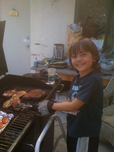 Jack's 1st grilling lesson