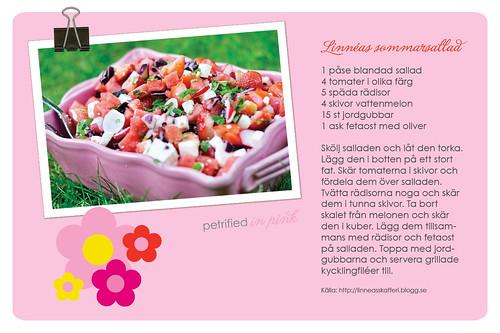 Recept på underbar sommarsallad