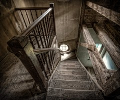 Dont fall down the stairs! (Batram) Tags: urban castle beauty germany deutschland for thringen sale euro decay thuringia villa mansion rent exploration chteau urbex auerbach 1000000 saalfeld 1million contactme