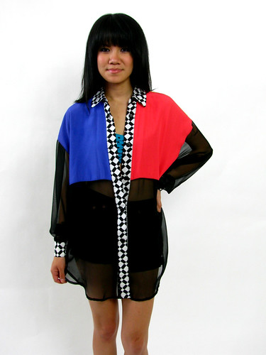 VINTAGE 90's COLORED BLOCK TOP