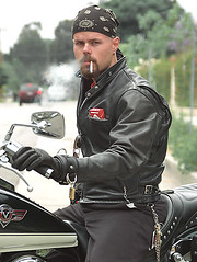 marlboro biker (skintightj2009) Tags: man male guy leather cigarette smoke smoking marlboro biker addicted bandana cigarettes smoker dangle addiction nicotine raucher inhale zigarette rauchen