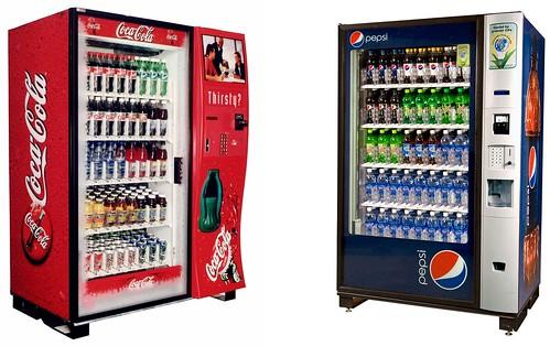Coca-Cola and Pepsi Vending Machines