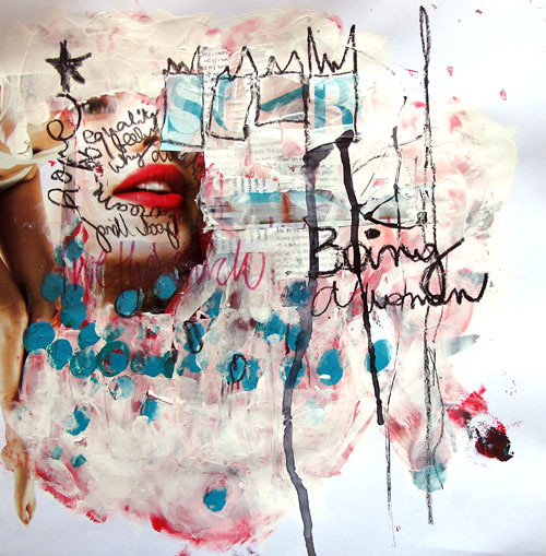 Being a woman (inspiration basquiat)