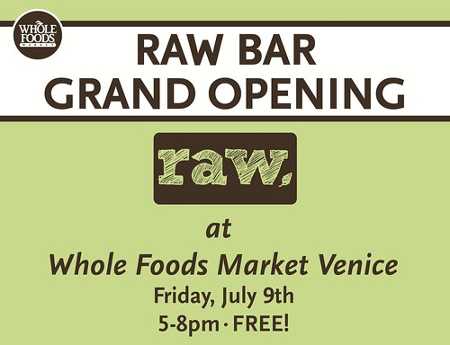 Raw Foods Opening