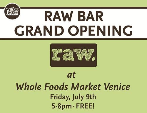 Raw Foods Opening