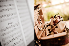 The Music of Love | The Love of Music (Proleshi) Tags: music blur closeup 50mm diptych dof notes bokeh case violin bow instrument string josephs dyptich shallowdof stringed d300s 50mm14afs proleshi