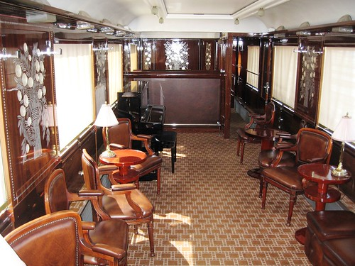 Wagons-Lits carriage - bar car with piano