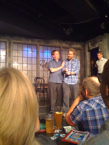 Fuzzy on stage at the Second City E.T.C.