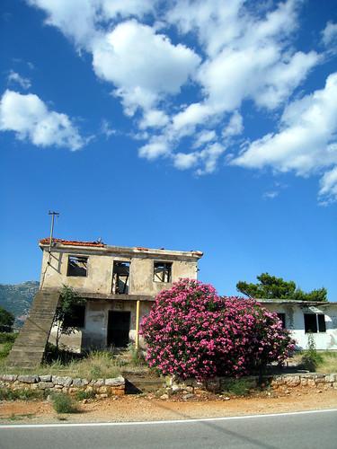 Empty buildings inland Croatia