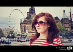 A Scottish Girl In Sheffield (Rick Nunn) Tags: red girl sunglasses ginger stripes sheffield delight ash rockers whereswally explored strobist p502 rockersdelight p502010