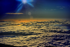 Haleakala Crater Ridge, Sunset over clouds, Maui, Hawaii (Don Briggs) Tags: mauihawaii donbriggs 18200nikonlens nikond5000 flipdownlcd haleakalacratersunsetmauihawaii hitech09graduatedfilter