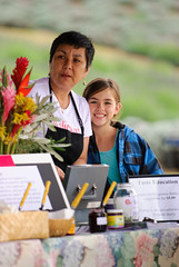 Dania and Lily Katz at the Slow Food Maui Taste Education event at Ali'i Kula Lavender.