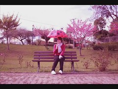 Stop Motion - I'm a new soul... (Honey Pie!) Tags: pink music tree feet umbrella sneakers sakura ps ameliepoulain stopmotion keds poulain sombrinha conversesneakers amliepoulain newsoul yaelnaim conversekeds