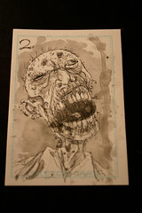 Zombie card 1 watercolour