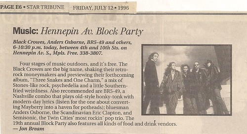 07/12/96 Black Crowes @ Minneapolis, MN
