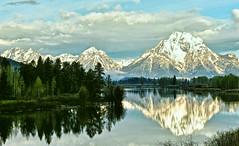 June Snow on Mount Moran (Jeff Clow) Tags: morning reflection june bravo snakeriver mountmoran tetons oxbowbend mtmoran jeffrclow