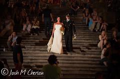 Newlyweds at Spanish Steps