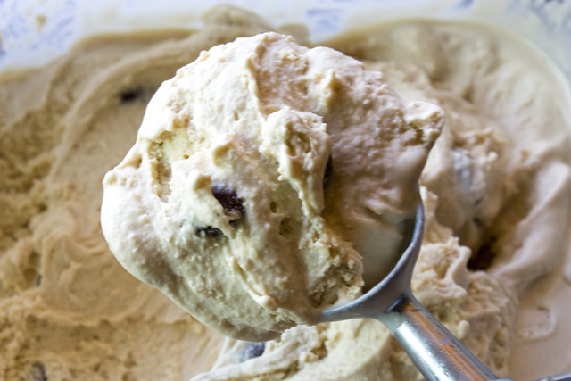 Coffee Ice Cream with Chocolate Covered Espresso Beans
