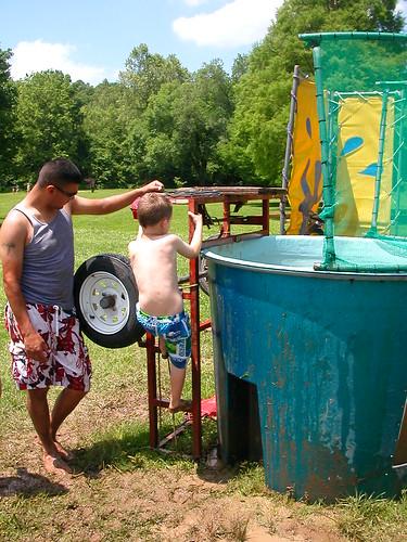 May 22 2010 Clark dunk tank at ward BBQ