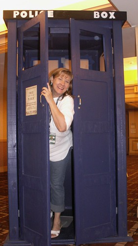 Ancient City Con IV, K.L. Nappier in Dr. Who Booth