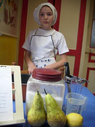 Prête pour les poires au sirop
