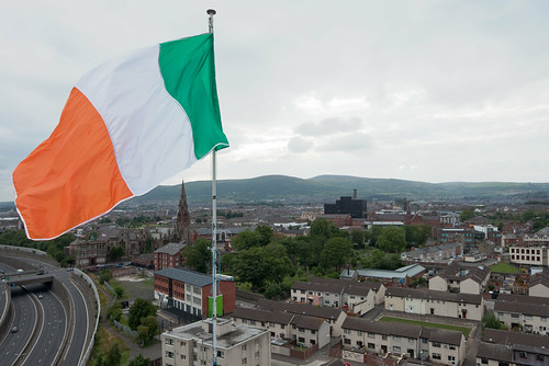 The Irish Flag on New Lodge High-rise