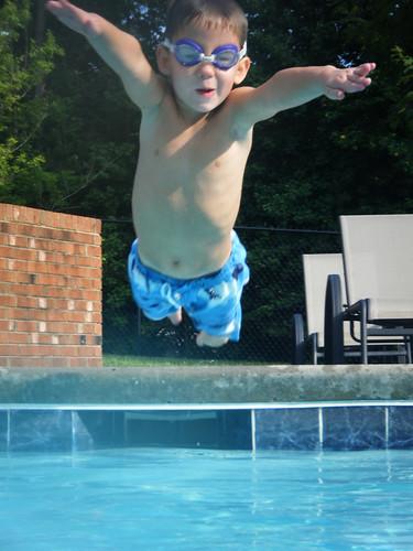 Alex diving