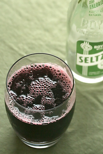 Blackberry-Verbena Soda