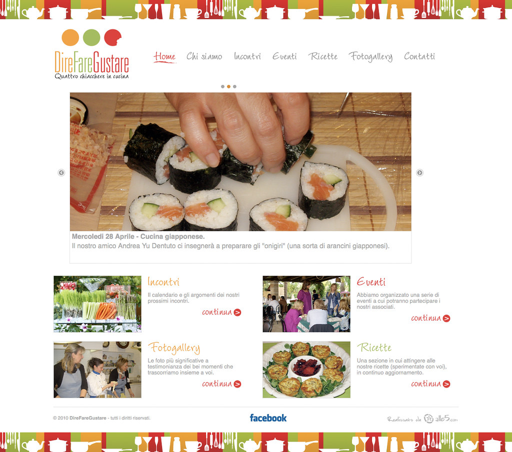 DireFareGustare Cooking association website + logotype  http://direfaregustare.com