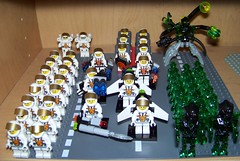 LEGO - Mars Mission Minifigures (Slayerdread) Tags: team lego space alien astronaut commander evolved jetpack moc marsmission