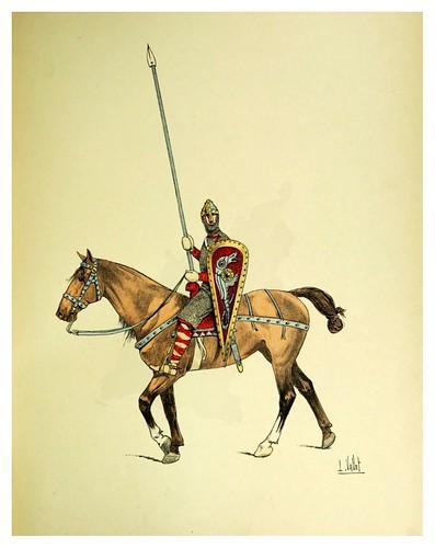 006-Caballero Normando del siglo XI-Le chic à cheval histoire pittoresque de l'équitation 1891- Louis Vallet