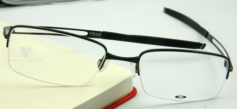 Oakley Titanium Polished Black Eyeglasses RX Frames FRAG ...