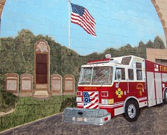 Project 365 - 7-15-10 Mural Absecon Fire Dept building