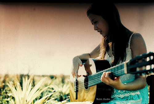 Girl with her Guitar