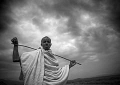 Karrayyu man with a stick, Ethiopia (Eric Lafforgue) Tags: sky storm man male gabi clouds cloudy culture tribal tribes stick shawl tradition tribe nuages ethnic baton tribo homme 133 contemplation ethnology tribu thiopien etiopia ethiopie etiopa lookingatcamera traditionalclothes abyssinie  etiopija ethnie ethiopi  etiopien etipia  etiyopya  afriquedelest         kereyu karayu okgps karrayyu tribudeskarrayyus karrayyutribe peuplekarrayyu karrayyupeople habittraditionnels ethiopianscarf