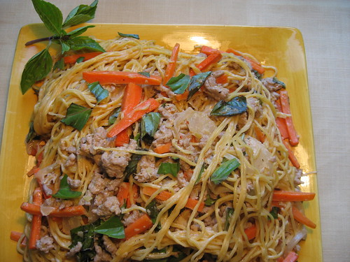 Thai Curried Noodles With Pork and Basil 025