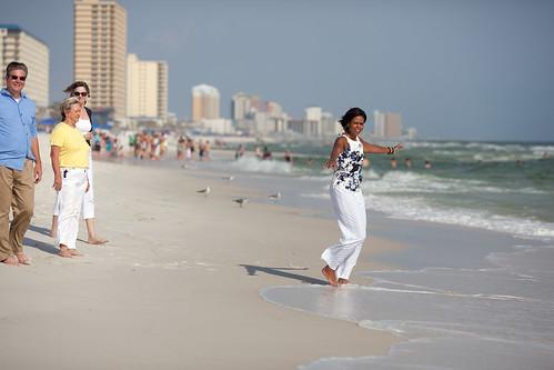Michelle on the beach