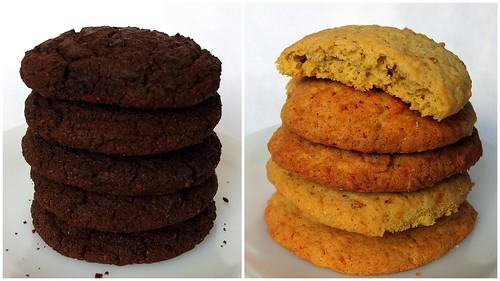 Schokoladen-Chili- und Orangen-Ingwer-Cookies
