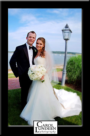 Carolyn Schumacher Chris Donnelly wedding portrait, Wequassett Inn, Cape Cod