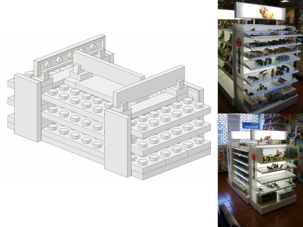 Work In Progress - LEGO® 'Loyds Toys' Toy Shop Schleich Stand