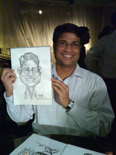 caricature live sketching for RBS 14 July 2010 - 11