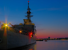 HMCS Athabaskan (DGMiller777) Tags: sunset canada ship novascotia harbour ns navy canadian halifax hdr basic hmcs athabaskan photomatix