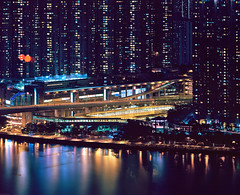 Hong Kong #48 -drumscan (Thomas Birke) Tags: film station analog island hongkong kodak 8x10 100 expressway elevated largeformat p2 newterritories sinar mtr 800mm schneiderkreuznach ektar tsingyi 12800 ramblerchannel apotelexenar tsingyimtrstation tsingtsuenbridge