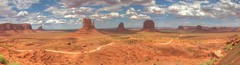 Monument Valley before the strom HDR panorama