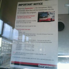 Georgetown Blue Bus / Circulator Notice